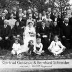 Hochzeit Gertrud Gottwald und Bernhard Schneider