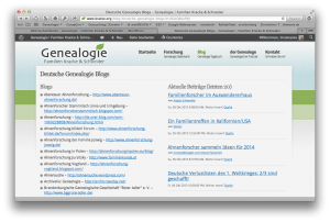 Deutsche Genealogie Blogs