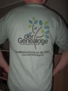 der Genealoge - T-Shirt (Hinten)