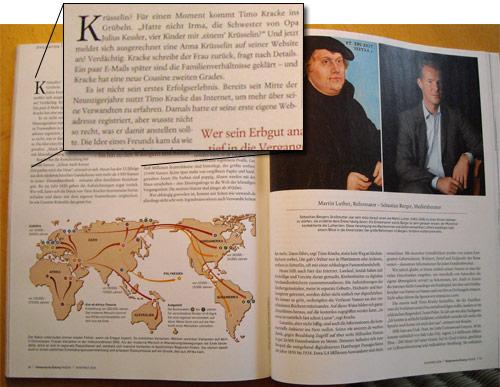 SZ Wissen - Artikel über Ahnenforschung
